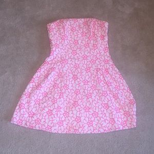 Lilly Pulitzer hot pink flower dress